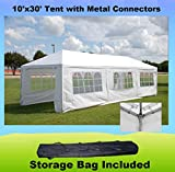 10'x30′ with Metal Connectors Wedding Party Tent Gazebo Canopy – WDMT1030