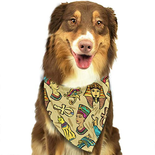 OURFASHION Ancient Egypt Pharaoh Nefertiti Cat Bandana Triangle Bibs Scarfs Accessories for Pet Cats and Puppies -