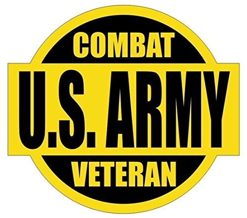 1 PC Tops Popular US Army Combat Veteran Car Sticker Sign Armed Forces Military Emblem Chemical Resistant Size 2