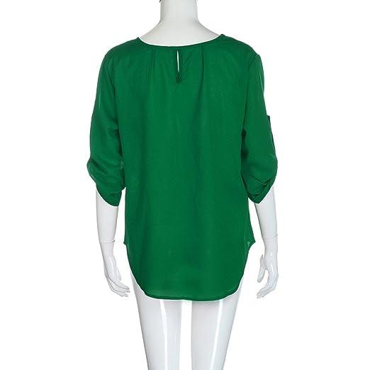 Mujer blusa camiseta,Sonnena ❤ Camisa de mujer de moda Lady Loose Blusa casual de gasa de manga larga Camisa Tops Blusa: Amazon.es: Hogar