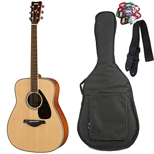 Yamaha FG820 Folk Guitar, Solid Top, Mahogany Back and Sides, with Legacy Accessory Bundles, Many to Choose From