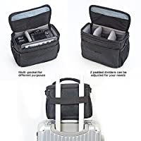 BGTREND DSLR Shoulder Camera Bag Case With Waterproof Rain Cover for Canon, Nikon, Sony, Pentax, Olympus, Samsung (Black) by BGTREND
