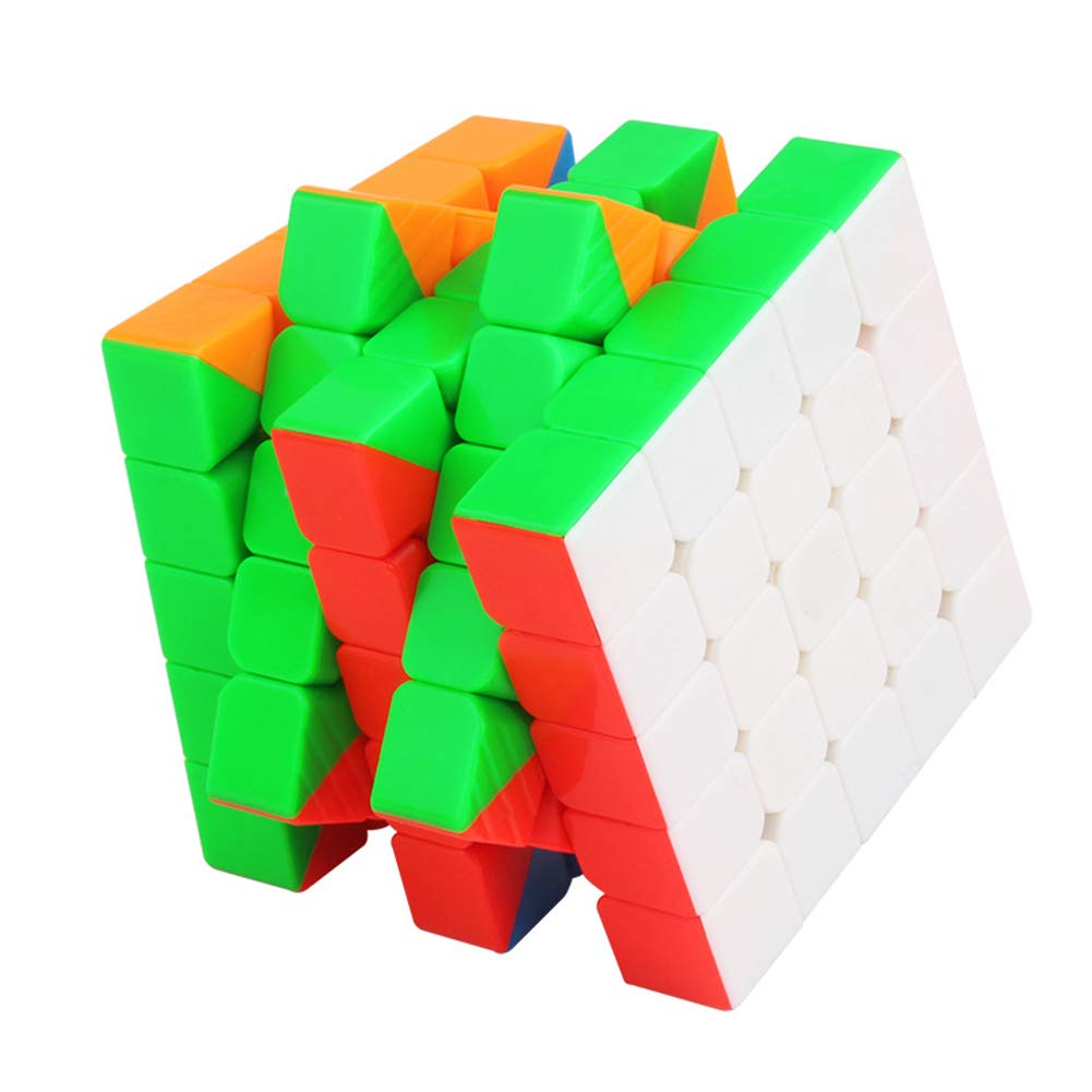 JIAAE Professional Competition Magic Cube, Magnetic Positioning Speed Cube 5X5, Educational Puzzle Toys for Children and Adults, Colorful