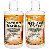 VITAL EARTH MINERALS FULVIC-HUMIC BLEND, 32 OZ, 2 pack