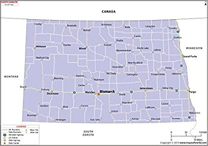 Amazon.com : North Dakota Highway Map (36\