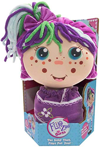Flip Zee Girls (Zara Happy Flower 2-in-1 Plush Doll by Jay at Play Soft & Squeezable Toy Instantly Switches from 12in Baby to 18in Big Girl Surprise