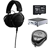 BeyerDynamic DT 1770 PRO Headphones 710717 w/ Amp Bundle Includes, BeyerDynamic A20 Headphone Amplifier, Slappa Headphone Case, Sony 64GB micro SDXC Class 10 Memory Card