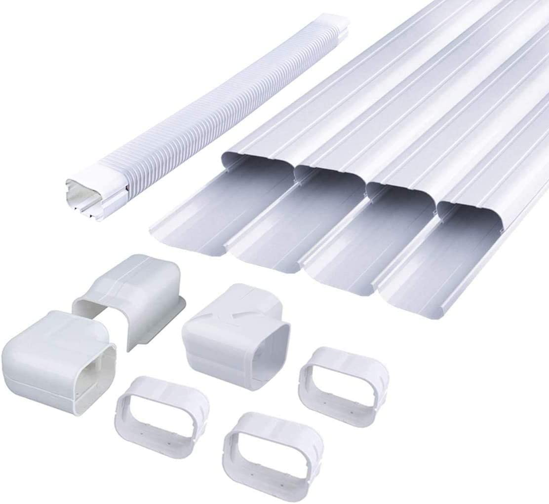 Ac Parts 4 W 14ft Air Conditioner Decorative Pvc Line Cover Tubing Kit For Ductless Mini Split Central Air Conditioner Heat Pump Systems Amazon Ca Home Kitchen
