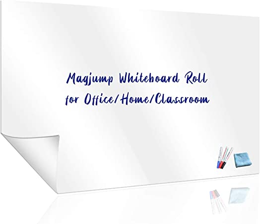 Magjump White Board Paper, Dry Erase Boards for Wall/Office/School/Kids/Drawing with 3 Markers