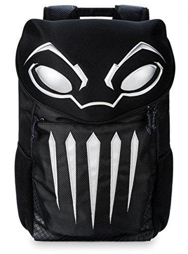 """Marvel Black Panther Backpack 17"""" Black Embroidered Leather Backpack"""
