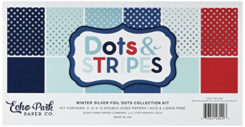 Echo Park Paper Company DSF16086 Dots & Stripes Winter Collection Kit ()
