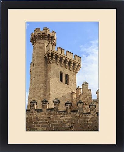 Framed Print of Europe, Spain, Balearic Islands, Mallorca, Palma de Mallorca, stone towers by Fine Art Storehouse
