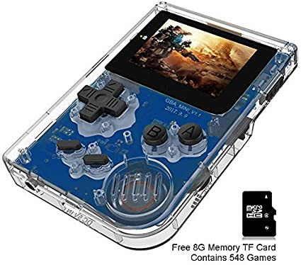 BAORUITENG Handheld Games Consoles , Retro TV Game Console Video Game Console Player 2.0 Inch Game Console with 548 GBA System Classic Games for Kids ...