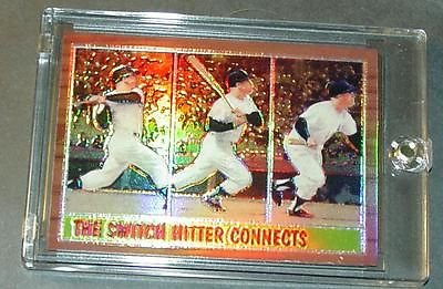 1997 Topp'S Mickey Mantle Switch Hitter Finest Refractor Reprint 1962 Topp'S #34