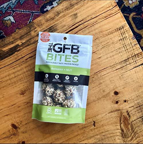 The Gluten Free Bar Paleo Grain Free Protein Bites, Banana Nut, 4 Ounce (6 Count), Vegan, Dairy Free, Non GMO