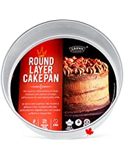 Crown Single Cake Pans, 2 inch deep, Professional Quality Baking Pan, Extra Sturdy, Pure Food-Grade Aluminum