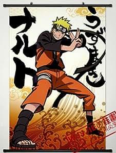 Home Decor Naruto Uzumaki Cosplay Wall Scroll Poster 35.4 X 23.6 Inches-558