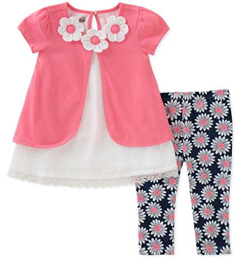 Kids Headquarters Baby Girls Tunic Set-Transitional, Rose, 24M