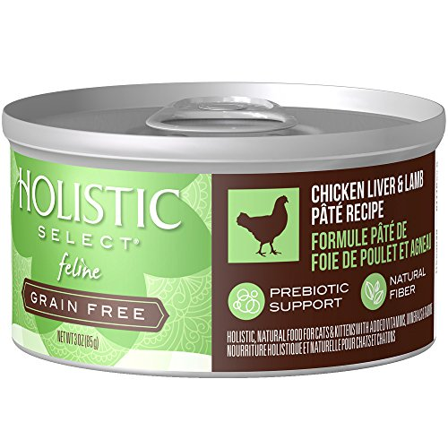 Holistic Select Natural Wet Grain Free Canned Cat Food, Chicken Liver & Lamb Pâté Recipe, 3-Ounce Can (Pack Of 24) ()