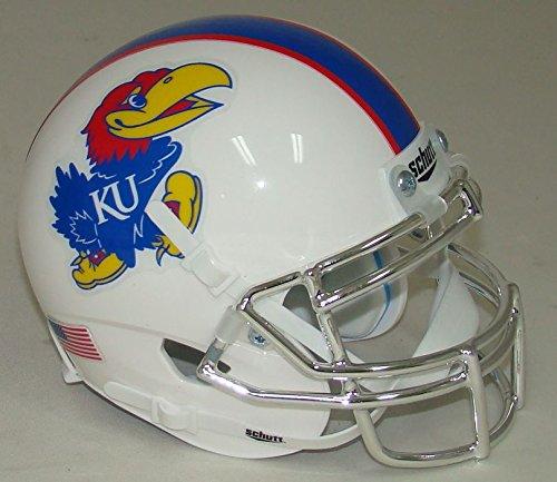 Schutt NCAA Kansas Jayhawks Mini Authentic XP Football Helmet, White Alt. 7, Mini by Schutt