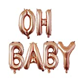 MZYARD OH Baby Balloons Baby Shower Party Decorations-16 inch