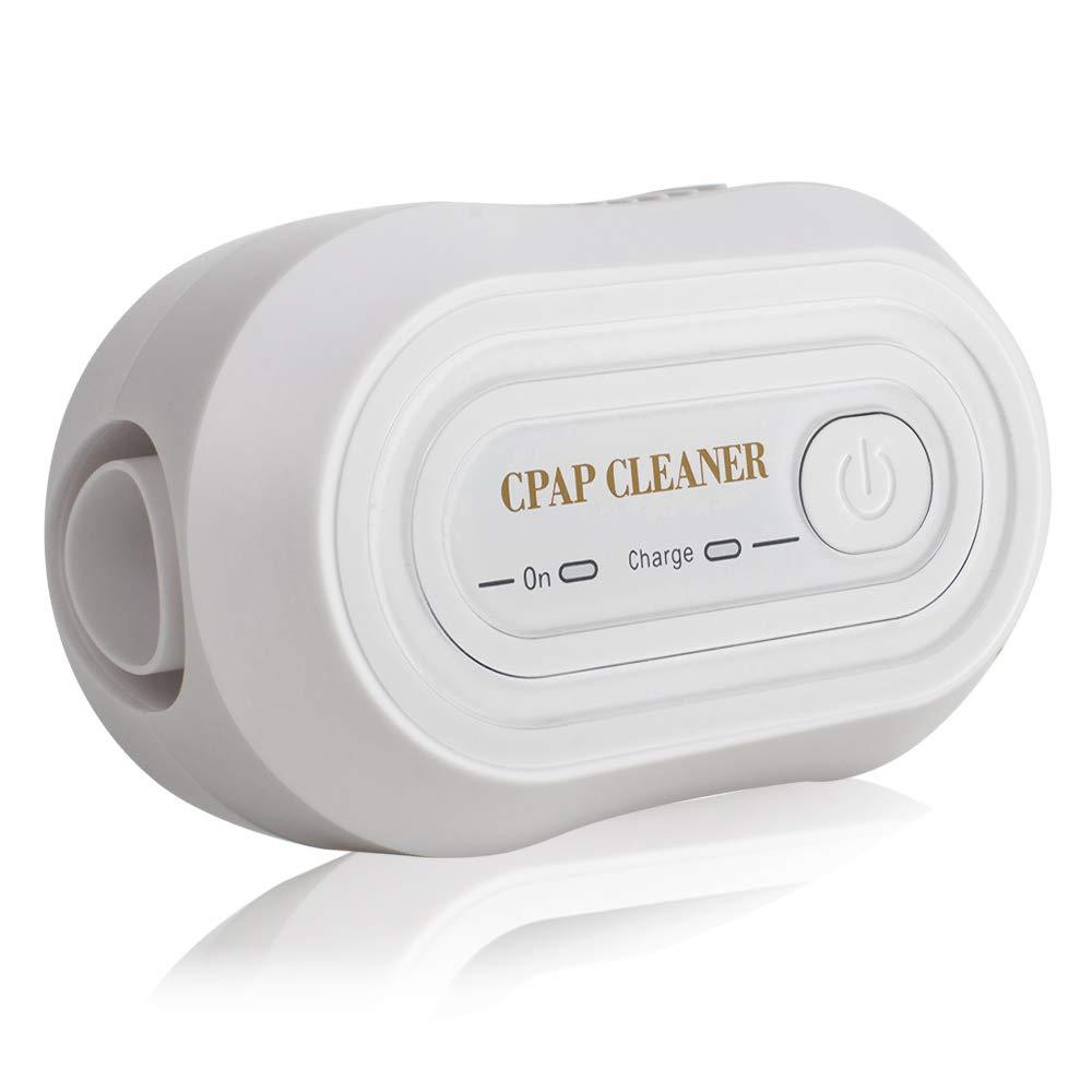 Funwill Tragbare Mini-CPAP-Reiniger, Der Neueste CPAP-Gerä te-Reiniger/Sterilisator fü r CPAP-Beatmungsgerä te, Gesichtsmasken, Atemschlä uche, Zubehö r (Weiß )