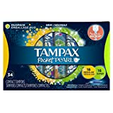 Tampax Pocket Pearl Compact Tampons Duopack, 34 Count (Pack of 3)