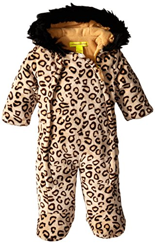 - Catherine Malandrino Baby Girls Bubble Parka With Faux Shearling Lining, Dark Leopard, 6-9 Months