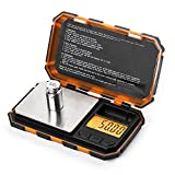 UNIWEIGH 200g x 0.01g Mini Precision Digital Scales for Gold Sterling Silver Jewelry 0.01 Balance Weight Electronic Scale With 50G Calibration Weight(200)