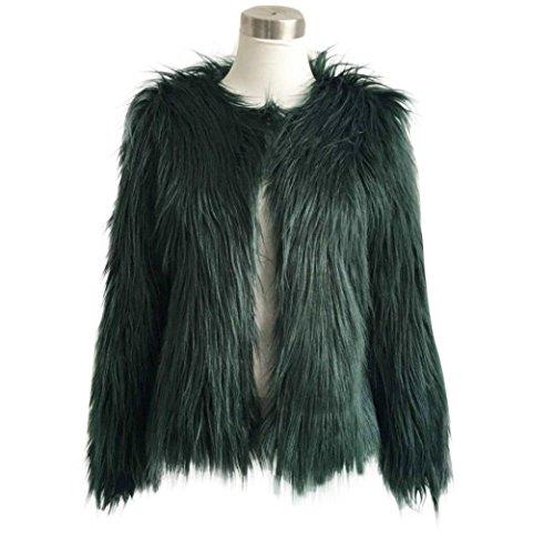 para Fox Parka de Mujer Abrigo Invierno KaloryWee Cálida de Verde Mujer Piel Sintética Abrigo para xw70qZRnqT