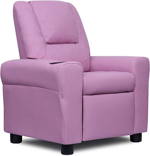 Amazon.com: FRIVITY - Sofá reclinable para niños (piel ...