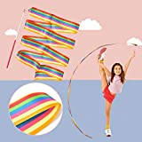 HUIANER Dance Ribbons Streamers Rhythmic