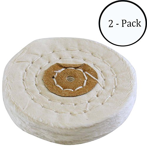 "ToolUSA White Cotton Buff - 3"" Diameter: TJ01-12300-Z02 :"