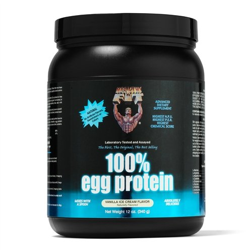 Saine 'n Fit 100% Egg Protein 12 -Ounce Bouteille vanille, remous