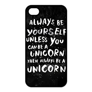 Custom Always be yourself. Unless you can be a unicorn, then always be a unicorn Printed SILICONE TPU Cases Protecor Snap On fits Iphone 4/4s