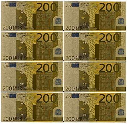 ZYZRYP コレクションやギフトEUマネー絶妙なクラフト用カラーユーロ紙幣10個入り/ロット10 EUR金箔紙幣 使いやすい (色 : F)