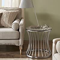 Madison Park Casey End Table Nickle See below