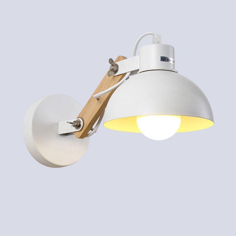 Lámpara de pared forjado de madera maciza ajustable, minimalista moderna pared de madera LED colgando estudio lámpara de pasillo escalera de cama de dormitorio de la lámpara de mesa de lectura