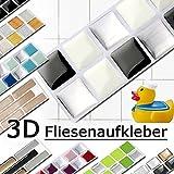 Grandora W5288 Mosaico Adesivo per piastrle effetto 3D grande scelta Adesivo da muro Cucina Bagno Decorazione piastrelle Pellicola autoadesivo - come selezionato, Design 3