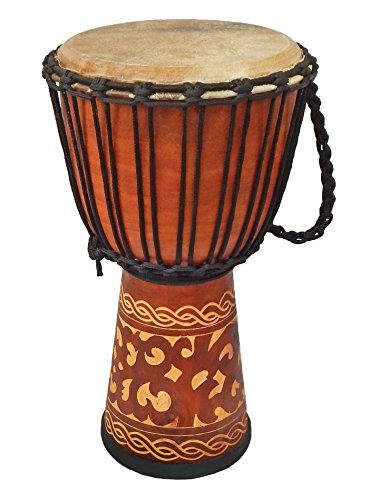 Djembe Standard linecarv, 20'' tall, 10'' head, NK149 by Terre