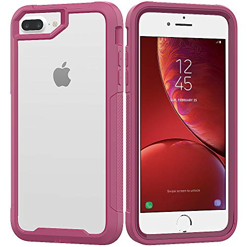 iPhone 8 Plus Case,iPhone 7 Plus Case,iPhone 6 Plus/6s Plus Case,UZER Shockproof Transparent PC Frame Crystal Durable Flexible Soft Rubber TPU Bumper Case for iPhone 8 Plus/7 Plus/6S Plus/6 Plus 5.5
