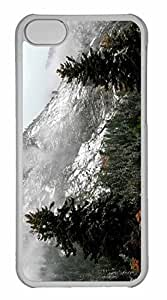 iPhone 5C Case, Personalized Custom Winter Wilderness for iPhone 5C PC Clear Case