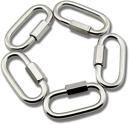 Yasorn in acciaio INOX a forma di D moschettone Quick Link portachiavi fibbia