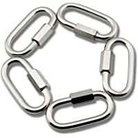 Yasorn Quick Link Chain 304 Stainless Steel Locking Carabiners 6MM 8MM D Link Connector