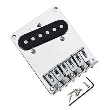 1pkg 6 Saddle Guitar Bridge Pickup with Screws for Fender Telecaster Guitar Replacement