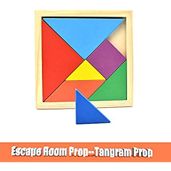 Escape Room Prop Tangram Props to Control 12V Magnetic Lock Escape Room Game Puzzle