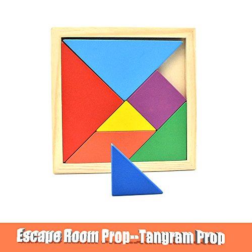 Escape Room Prop Tangram Props to Control 12V Magnetic Lock Escape Room Game Puzzle