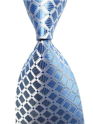 Wehug Hot Men's Ties 100% Silk Tie Woven Necktie Jacquard Neck Ties LG0020