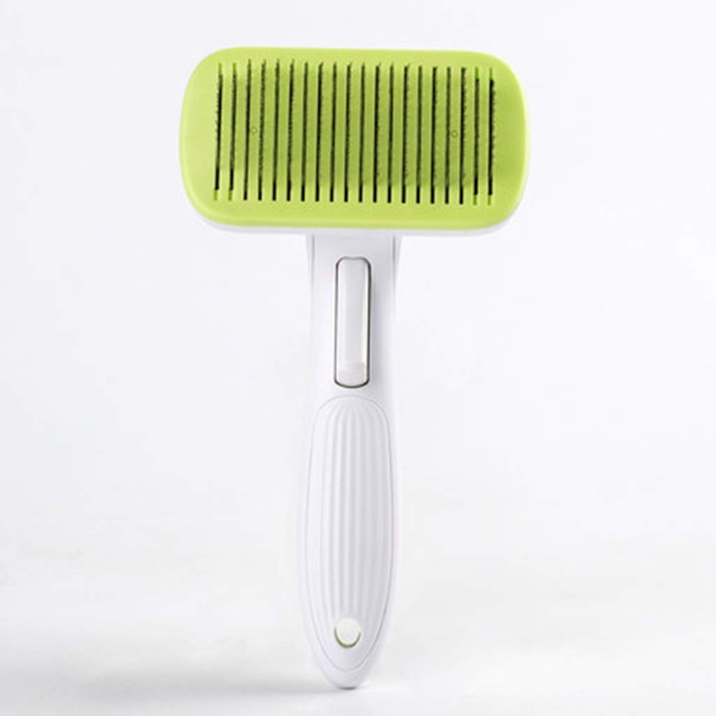 Green ZHPRZD Pet Brush Dog Hair Comb Comb Hair Artifact Large Dog Special Hair Removal Brush Pet Needle Comb Dog Supplies (color   Green)