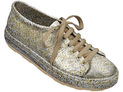 Melissa Shoes Womens Be Gold Fushion Glitter 5 M Us
